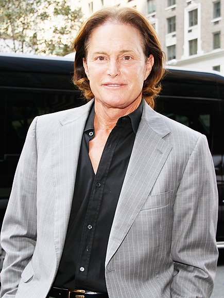 Bruce Jenner in DVF dress