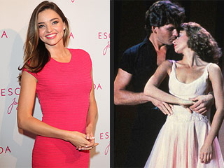 Miranda Kerr Channels Dirty Dancing's Baby in Funny Photo