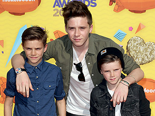 The Beckham Boys Leave Victoria and David at Home for the Kids' Choice Awards