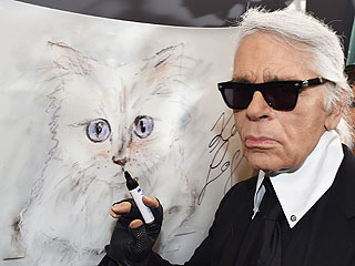 Purrfectly Posh! Karl Lagerfeld and His Cat Choupette Get Animated for New Clothing Collection (PHOTOS)