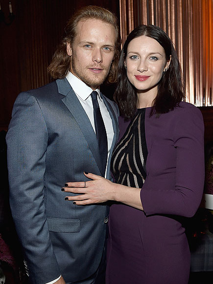 Caitriona Balfe Reveals Exactly Who Is Keeping Her from Falling in Love with Outlander Costar Sam Heughan (Hint: On-Camera Sex Scenes Are Involved)| STARZ, Outlander, People Picks, TV News, Caitriona Balfe, Sam Heughan