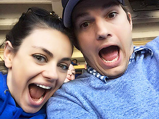 Date Night! Mila Kunis and Ashton Kutcher Spotted Getting Cozy at a Baseball Game