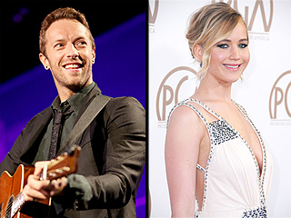 Chris Martin and Jennifer Lawrence Step Out Together for U2's Hollywood Bash