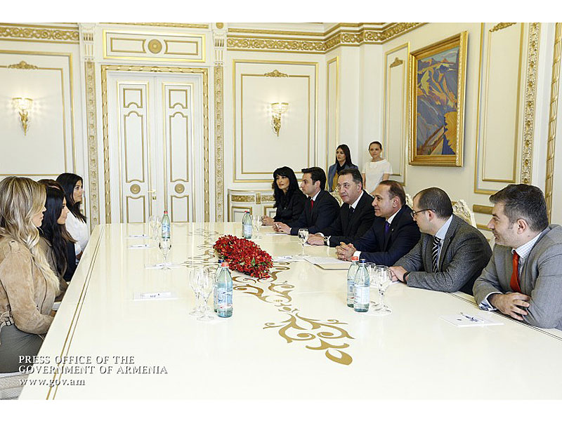 Kardashians and Kousins with Armenian PM