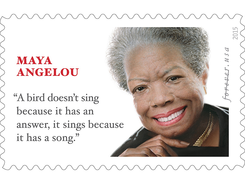 Maya Angelou Memorial Stamp Features Quote from a Different Author| Maya Angelou, Michelle Obama, Oprah Winfrey