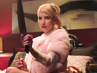 Emma Roberts Says the Scream Queens Cast Doesn't Even Know Who the Red Devil Is