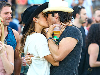Ian Somerhalder and Nikki Reed Share a Sweet Kiss at Coachella (PHOTO) | Ian Somerhalder, Nikki Reed