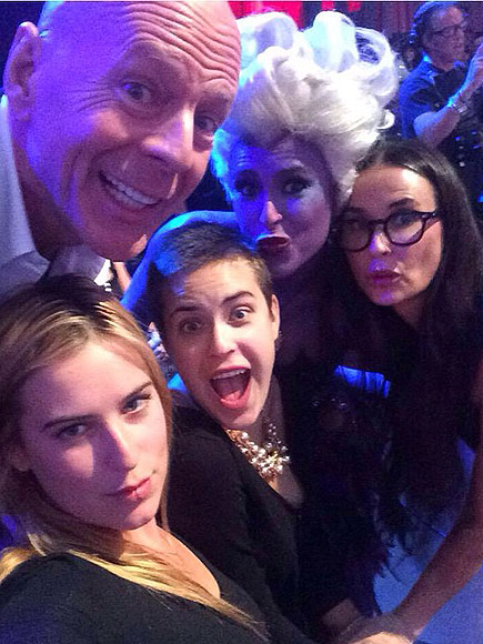 Dancing with the stars bruce willis joins daughter rumer willis in