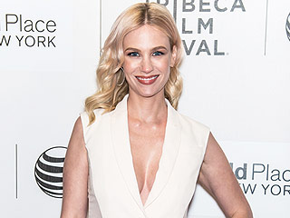 January Jones Says Working with Boyfriend Will Forte Is 'a Blast'