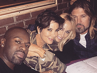 PHOTO: Kris Jenner Goes on a Double Date with Tish and Billy Ray Cyrus