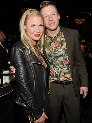Macklemore and fiancée Tricia Davis with pregnancy team