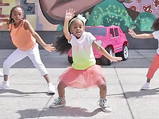 Watch 4-Year-Old Heaven King Do the Nae Nae with Her Own Tiny Dance Crew (VIDEO)
