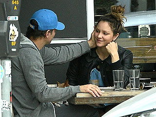 Katharine McPhee and Nick Cokas Are the Friendliest Exes Ever During Casual Lunch