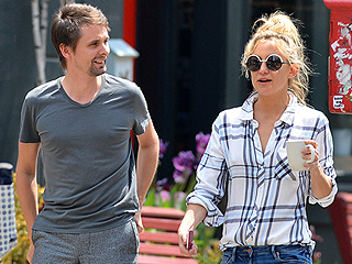 The Friendliest Exes! Kate Hudson and Matt Bellamy Step Out Again in New York City