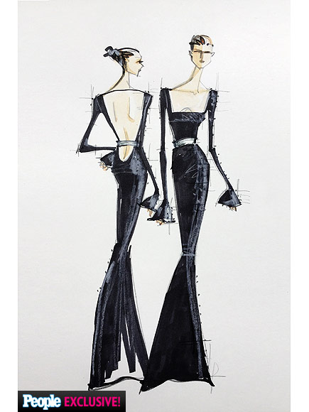 Chrissy Teigen Met Gala dress sketch