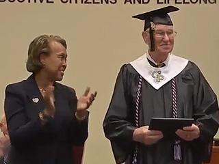 89-Year-Old World War II Veteran Receives High School Diploma
