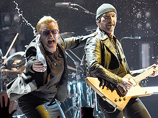 Ouch! U2's The Edge Falls Off the Stage at Vancouver Concert