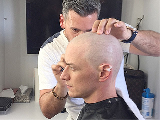 James McAvoy Gets His Head Shaved for X-Men: Apocalypse (PHOTO)