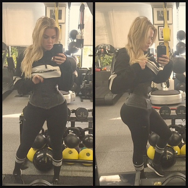Khloe Kardashian Wearing Waist-Training Corset: Photo