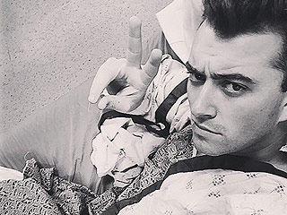 Sam Smith Posts a Fierce 'Hospital Selfie' Prior to Throat Surgery in Boston