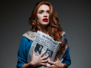Teen Wolf's Holland Roden Jumps Back in Time for Tyler Shields' Photo Series 'Historical Fiction'