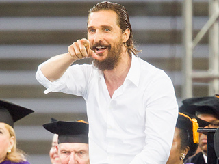 Matthew McConaughey Gives Out Valuable Life Advice During Commencement Speech in Houston