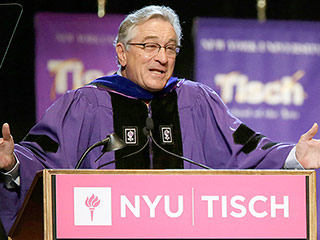 Robert De Niro Gives Blunt, Funny, Inspiring Commencement Speech to Acting School Grads