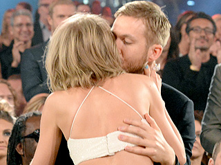 Aww! See Taylor Swift Get a Sweet Kiss from Calvin Harris