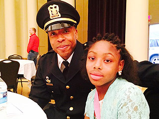 Chicago Cops Stand in for Missing Fathers at Daddy Daughter Dance