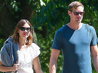 Alexander Skarsgard and Alexa Chung Canoodle in Brooklyn