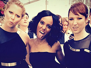 #SquadGoals: Amy Schumer, Kerry Washington and Ellie Kemper Get Silly and Stylish | Amy Schumer, Ellie Kemper, Kerry Washington