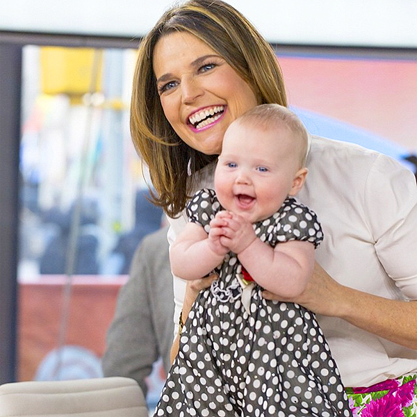 Savannah Guthrie and Baby Vale