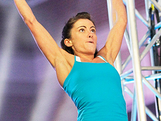 FROM EW: Watch Kacy Catanzaro Tackle American Ninja Warrior's Salmon Ladder Again