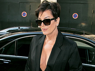 Kris Jenner Shows Off Major Cleavage While Out in Paris and Daughter Kylie Is Loving It: 'Damn Ma!'