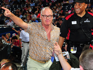 Michael Keaton Shuts Down Pirates Heckler at Baseball Game in Atlanta (PHOTO)
