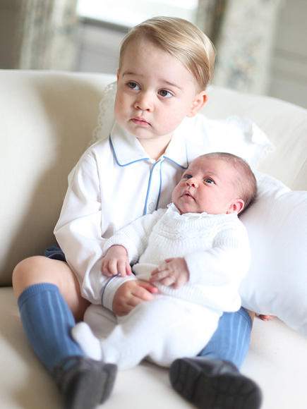 A Kiss from Prince George to Princess Charlotte! See All 4 Delicious Portraits of the Royal Siblings (PHOTOS)| The British Royals, The Royals, Prince George, Princess Charlotte