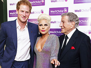 Prince Harry Meets Lady Gaga – and Her Diamond Eyebrows (PHOTO)