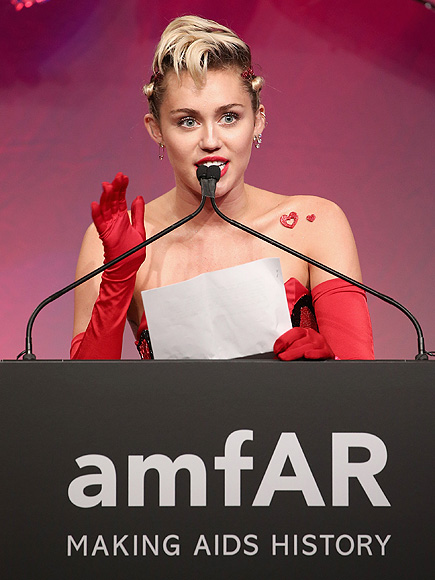 Miley Cyrus Auctions Caitlyn Jenner Art at amfAR Inspiration Gala, Wins Award