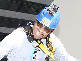 Supernatural Star Misha Collins Rappelled Down a Skyscraper for Charity
