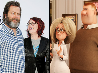 Hotel Transylvania 2 Costars Nick Offerman and Wife Megan Mullally: Who's Funnier? Here's What He Says!