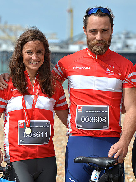 Pippa and James Middleton Race 54 Miles from London to Brighton for Charity Bike Ride