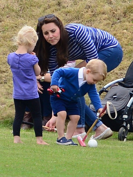 Prince George Swaps Knee Socks for $30 Crocs to Watch His Dad Play Polo (PHOTOS)| The British Royals, The Royals, Kate Middleton, Prince George