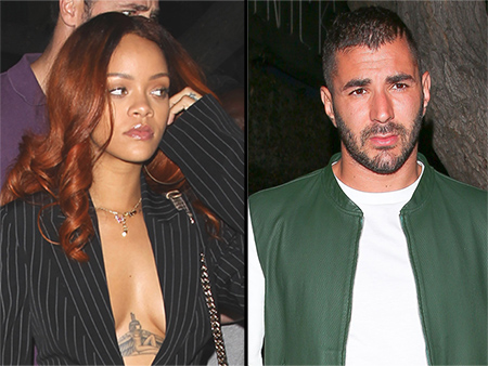 Rihanna Parties with Karim Benzema at Same Nightclub as Chris Brown