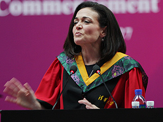 Sheryl Sandberg Remembers 'Beloved' Late Husband in Moving Commencement Speech