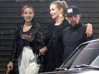 Double Take! Cameron Diaz and Nicole Richie Enjoy Double Date with Benji, Joel Madden in Hollywood