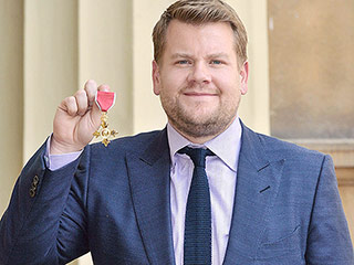 James Corden Awarded OBE by Princess Anne at Buckingham Palace: 'It's Overwhelming'
