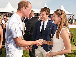 Prince William Reunites with Eton Schoolmate Eddie Redmayne at Polo Match Ahead of Charlotte's Christening