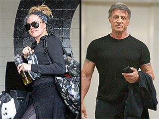 Working Out with Rocky? Khloé Kardashian & Sylvester Stallone Run Into Each Other at Gym