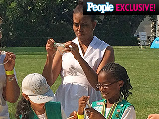Only PEOPLE Was There: Girl Scouts Camp Out on the Obamas' Front Lawn