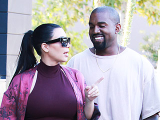 Kanye West Cracks a Smile During Lunch Outing with Pregnant Kim Kardashian
